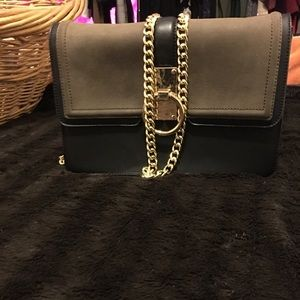 Aldo Olive and Black crossbody bag w/ gold detail